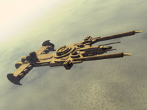 Spaceship. A space cruiser in 3d Royalty Free Stock Images