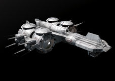 Spaceship. A spaceship or a starship in 3d Royalty Free Stock Image