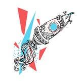 spaceship ilustração royalty free