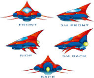 SpaceShip. High quality, high resolution, digitally painted illustration vector illustration