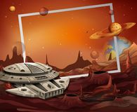 Free Spaceship And Outerspace Frame Theme Royalty Free Stock Image - 123317586