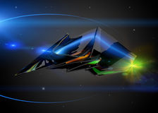 Spaceship as concept Stock Images