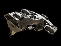 Spaceship on black - front side view Royalty Free Stock Photos