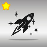 Spaceship black Icon button logo symbol Royalty Free Stock Photos