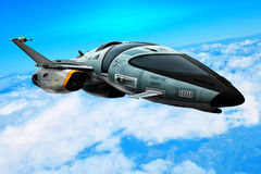 Spaceship in an blue sky Stock Photography