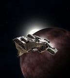 Spaceship Breaking Orbit Royalty Free Stock Images