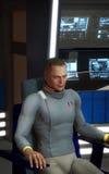 Spaceship captain futuristic man Royalty Free Stock Images