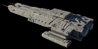 Free Spaceship Carrier Isolated On Black - Left Side Angled View Royalty Free Stock Photo - 161176535