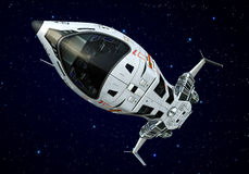 Spaceship closeup upside down stars Royalty Free Stock Images