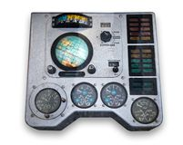 Spaceship control panel. Control panel of first Soviet operated spaceship Stock Photography