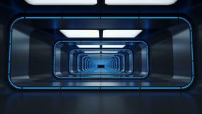 Spaceship corridor. stock video footage