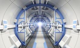 Spaceship corridor Royalty Free Stock Image