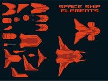 Spaceship Creation Kit royalty free illustration