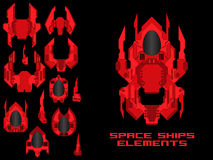 Spaceship Creation Kit Royalty Free Stock Images
