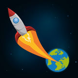 Spaceship design. Over space background, vector illustration vector illustration
