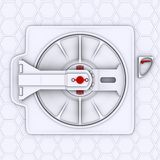 Spaceship door Royalty Free Stock Photos