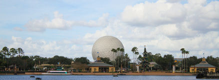 Spaceship Earth at Epcot Center, Orlando Florida Royalty Free Stock Photography