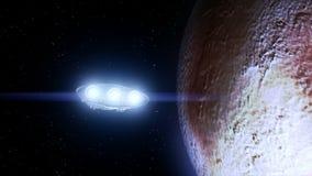 Spaceship flies past Pluto