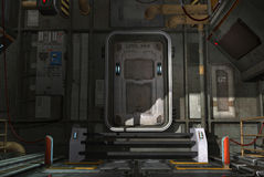 Spaceship hatch stock photos