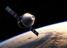 Spaceship i avstånd Royaltyfri Fotografi