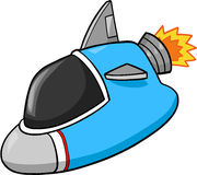 Spaceship Illustration. Cute Rocket Spaceship Vector Illustration Royalty Free Stock Photography