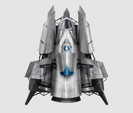 Spaceship illustration. Royalty Free Stock Photography