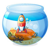 A spaceship inside the aquarium Stock Images