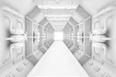 Spaceship interior Stock Photo
