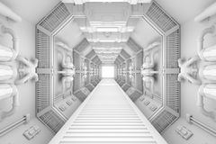 Spaceship interior center view Stock Photography