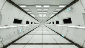 Spaceship interior, center view with floor Royalty Free Stock Image