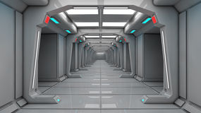Spaceship interior, center view with floor Stock Photography