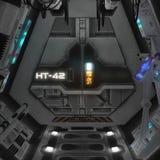 Spaceship interior. 3D rendered illustration of sci-fi spaceship interior Stock Photo