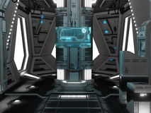 Spaceship interior. 3D rendered illustration of sci-fi spaceship interior Royalty Free Stock Images