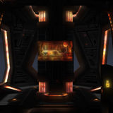 Spaceship interior. 3D rendered illustration of sci-fi spaceship interior Royalty Free Stock Photos