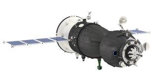 Spaceship isolated Stock Image