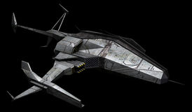 Spaceship isolated on a black background Royalty Free Stock Photos