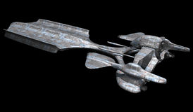 Spaceship isolated on a black background Royalty Free Stock Image