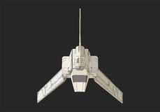 Spaceship isometric flat vector 3d Stock Images