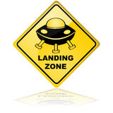 Spaceship landing zone Stock Photography