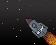 Spaceship Launch illustration Royalty Free Stock Image