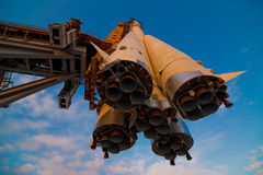 Spaceship On A Launchpad Royalty Free Stock Images