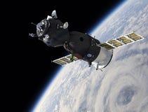 Spaceship on the orbit Stock Photography