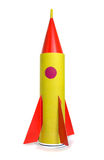The spaceship out of colored paper Stock Photography