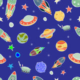 Spaceship pattern Stock Photo