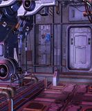 Spaceship room 1 Stock Image
