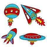 Spaceship Set vector illustration