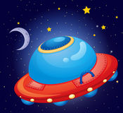 A spaceship at the space Royalty Free Stock Photography