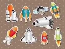 Spaceship stickers Royalty Free Stock Photos