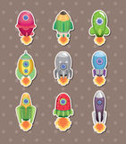 Spaceship stickers Stock Images