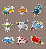 Spaceship stickers Stock Photo